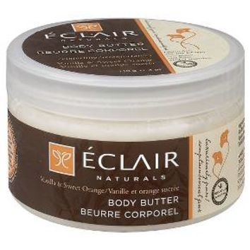 Eclair Naturals Body Butter Vanilla & Sweet Orange 4 oz