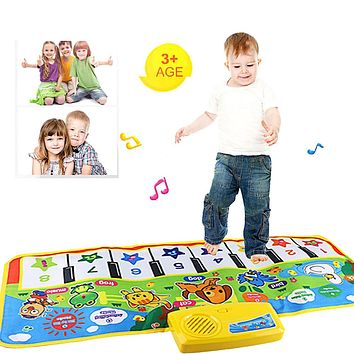 New Touch Play Keyboard Musical Music Singing Gym Carpet Mat Best Kids Baby Gift