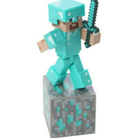 Minecraft Series #2 Steve With Diamond Armor Action Figure