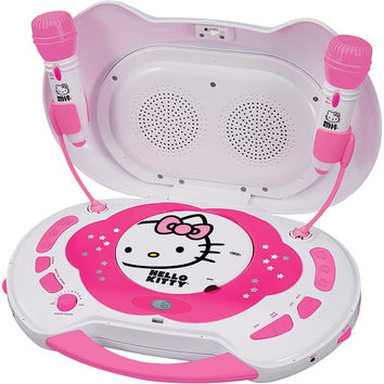 Hello Kitty Karaoke System With Cd Player