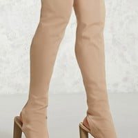 Over-the-Knee Cutout Boots