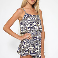 Call Me Yours Playsuit - Blue Print