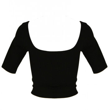 Seamless 1/2 Sleeve Crop Top