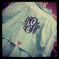 Monogrammed Columbia Bahama L/S Shirt for by LittleCharmsDesigns