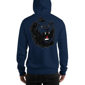 Black and Gold Diamond Shadow Lion Hoodie