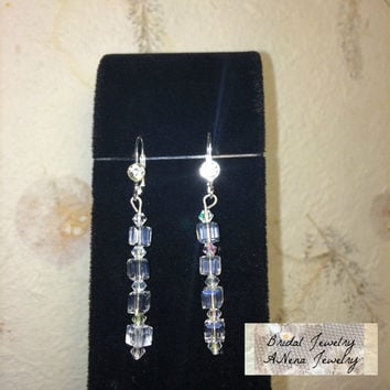 "Women's Earrings: Vintage Inspired Weddings/Bridal Earrings Crystal ""Beautiful Bride"" By ANena Jewelry"