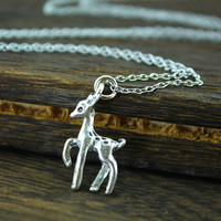 Snapes and Lily's patronus deer necklace Xenophilius Lovegood necklace Harry potter jewelry