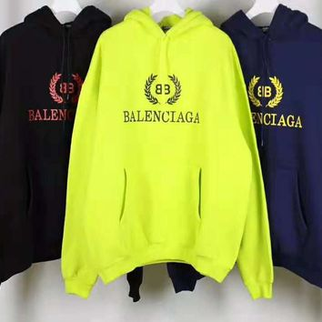 Balenciaga Fashionable Women Men Leisure Print Long Sleeve Hoodie Sweater Top Sweatshirt
