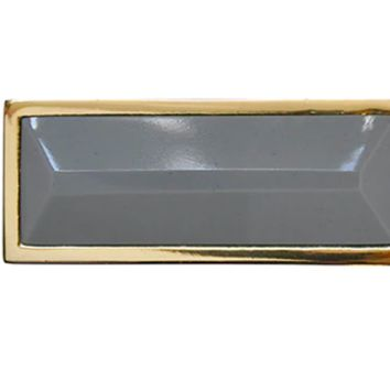 Worlds Away Rectangle Knob in Brass and Resin