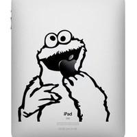 Cookie Monster -- iPad Decal iPad Sticker Art Vinyl Decal for Macbook Pro / Macbook Air / iPad 1 / iPad 2 / iPad 3/iPad 4/ iPad mini