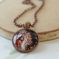 Tree of Life Necklace, Tree Art Pendant,  Your Choice of Finish (1119)
