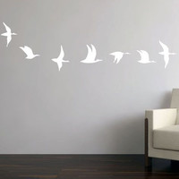 Wall Vinyl  - Flying Bird Decals (Set of 7 - SMALL)