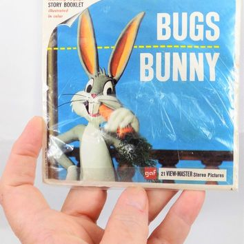 Bugs Bunny View Master Reel, Story Booklet, NOS, Vintage Toy Collectibles