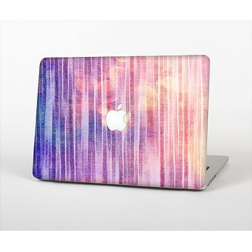"The Vibrant Fading Purple Fabric Streaks Skin Set for the Apple MacBook Pro 13"" with Retina Display"