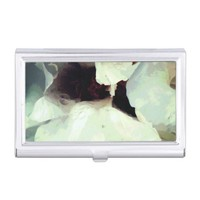 Cool bloomed White flower texture Business Card Case