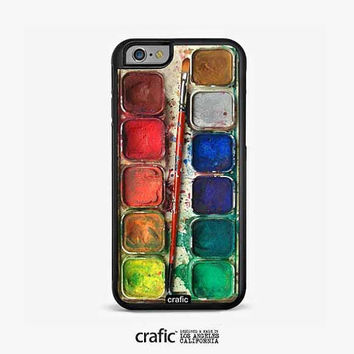 IPHONE 6 CASE, iPhone 6 Plus, Watercolor Set Rubber iPhone Case