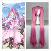 Synthetic Hair NEW ARRIVAL Cartoon Akame ga KILL!-Mine Anime 110 cm LONG straight wig PONYTAILS Cosplay Wig,Colorful Candy Colored synthetic Hair Extension Hair piece 1pcs WIG-572C