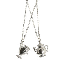 Disney Beauty And The Beast Mrs. Potts and Chip Bestie Necklace Set