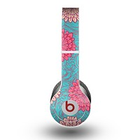 The Pink & Blue Floral Illustration Skin for the Beats by Dre Original Solo-Solo HD Headphones