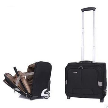 Business Travel Luggage Bag - Oxford Suitcase laptop Rolling Bags On Wheels