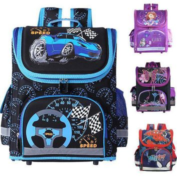 CREYCI7 Kids school Backpack monster high butterfly winx  EVA FOLDED orthopedic Children School Bags for boys and Girls mochila infantil