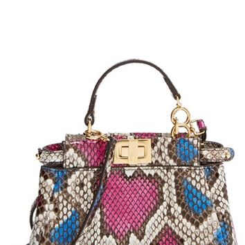 Fendi 'Micro Peekaboo' Genuine Snakeskin Bag (Extra Small)