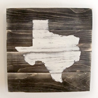 Texas Map Wood Art