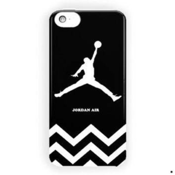 CREYUG7 Chevron Black White Jordan Air For iPhone 5 / 5S / 5C Case