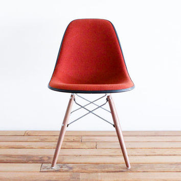 Brick Eames Girard Hopsack DSW for Herman Miller Side Chair