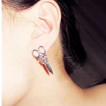 Adorable Small Scissor Stud Earrings