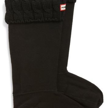 Hunter Original Tall Cable Knit Cuff Welly Boot Socks | Nordstrom