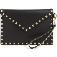 VALENTINO GARAVANI Medium Rockstud Leather Clutch | Nordstrom