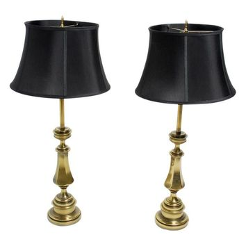 Pre-owned Stiffel 1950's Brass Lamps - A Pair