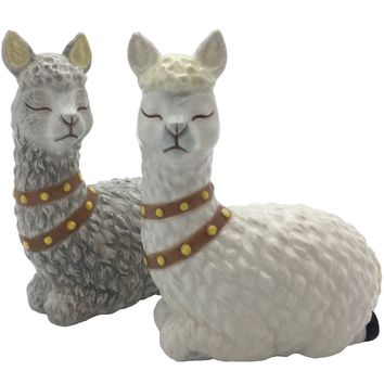 Alpaca Salt & Pepper Shaker Set - PRE-ORDER, SHIPS LATE APRIL