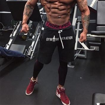 2018 Men's Casual Summer Shorts Sexy Sweatpants Male Fitness Bodybuilding Workout Man Fashion Crossfit Short pant Brand Clothing