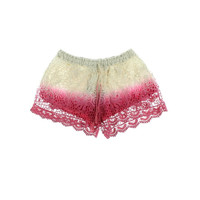 Raga Womens Crochet Ombre Casual Shorts