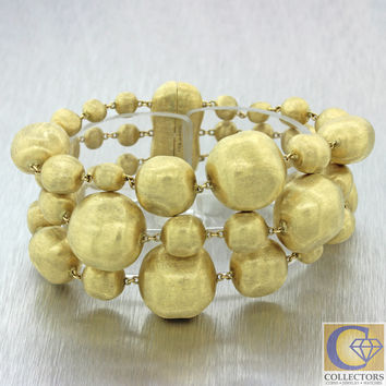 Marco Bicego Italy Yellow Gold Plated Graduated Gold Nugget Bracelet