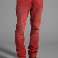 Red Color Faded Chino