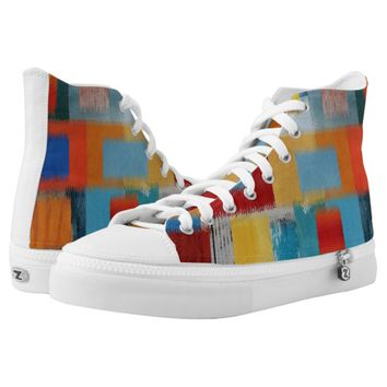 Colorful High-Top Sneakers