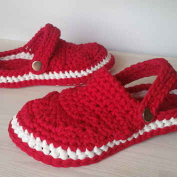 "Pattern ""Crocheted Clogs"", Sizes 6/6.5, 7.5/8.5, 9/10, 10.5/11, crochet pattern, slippers, loafers, slip-on shoe"
