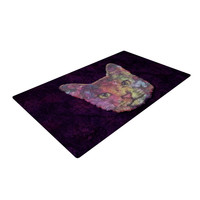"Ancello ""Rainbow Cat"" Pastel Purple Woven Area Rug"
