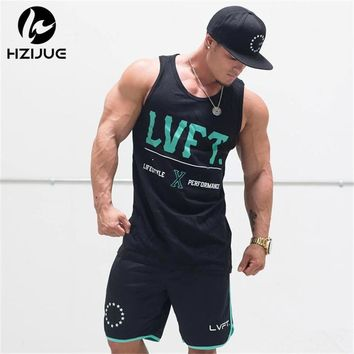 2017 New Arrivals Summer Letter Print Men Gyms Tank Top Bodybuilding Sleeveless Brand Casual Shirts men's Hot Selling