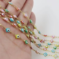 40cm 45cm 50cm 55cm 60cm Gold color Women Chain, Stainless Steel Colorful Necklace,Female Necklace 60cm Jewelry Chain-in Chain Necklaces from Jewelry & Accessories on Aliexpress.com | Alibaba Group