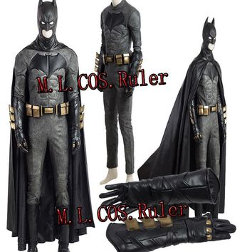 Batman Dark Knight gift Christmas New Original Justice League Batman Bruce Wayne Cosplay Costume Hallowmas Outfit Custom Made AT_71_6