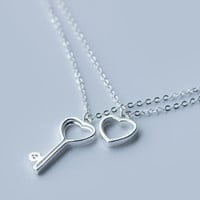 Personality key 925 sterling silver necklace, a perfect gift