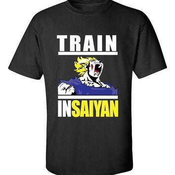 Train Insaiyan Dragon Gym Workout T-Shirt