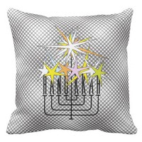 HANUKKAH LIGHTS THROW PILLOW
