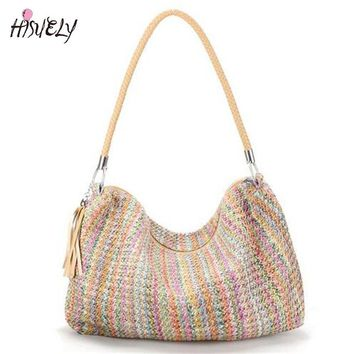 *Online Exclusive* Tassel Braid Strap Handbag