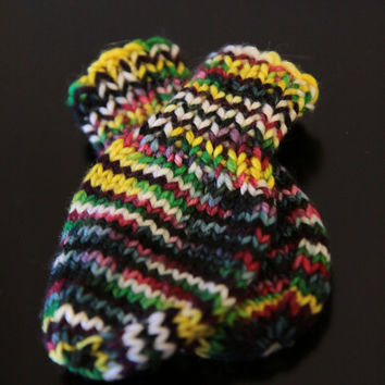 Thumbless Baby Mittens / Hand Knit Baby Mittens / 0-3 Months / Ready to Ship!