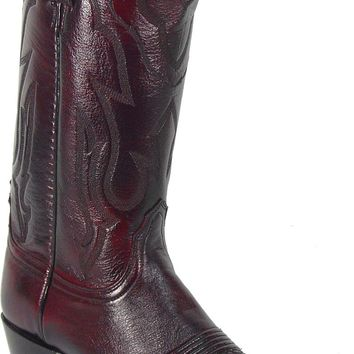 Lucchese Heritage Mens Black Cherry Lone Star Calf Leather Cowboy Western Boots T3095